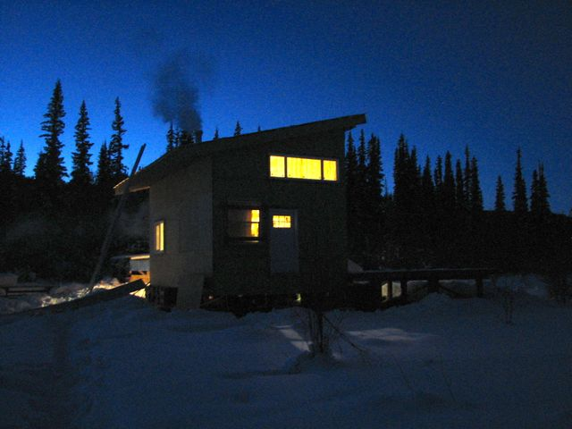 huse at night